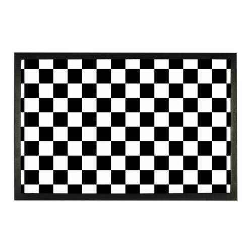 Black and White Checker Style Sublimation Doormat