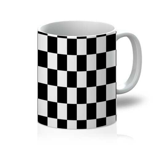 Black and White Checker Style 11oz Mug