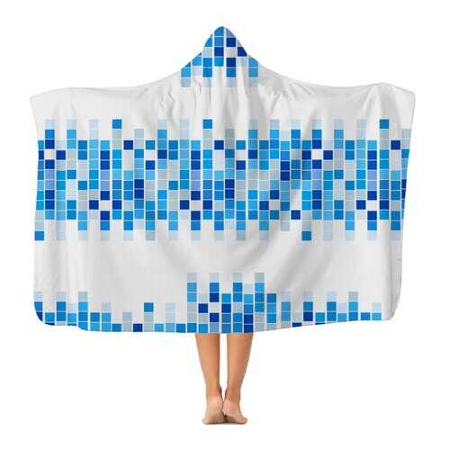 Mosaic Squares Graphic Style Premium Adult Hooded Blanket