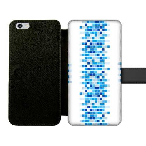 Mosaic Squares Graphic Style Front Printed Wallet Cases