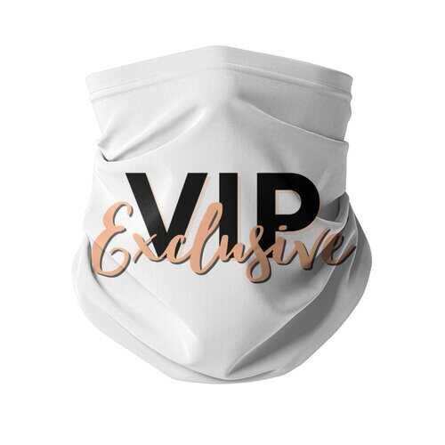 VIP Exclusive Black Graphic Neck Gaiter