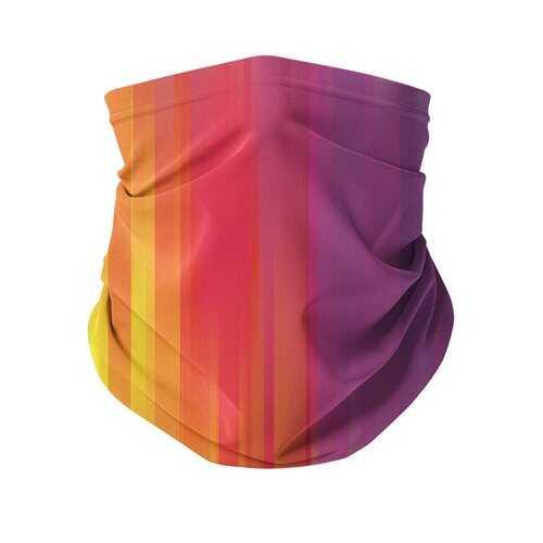 Rainbow Mist Graphic Style Neck Gaiter