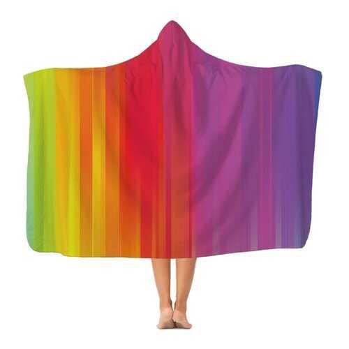 Rainbow Mist Graphic Style Premium Adult Hooded Blanket