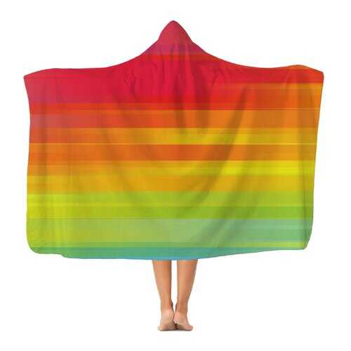Rainbow Mist Graphic Style Classic Adult Hooded Blanket