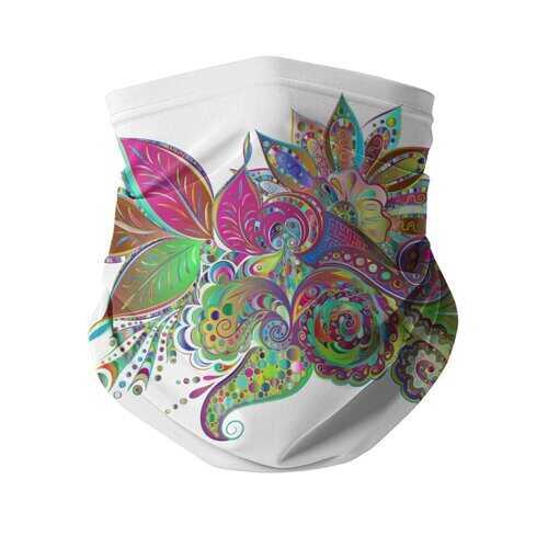 Floral Odyssey Graphic Style Neck Gaiter