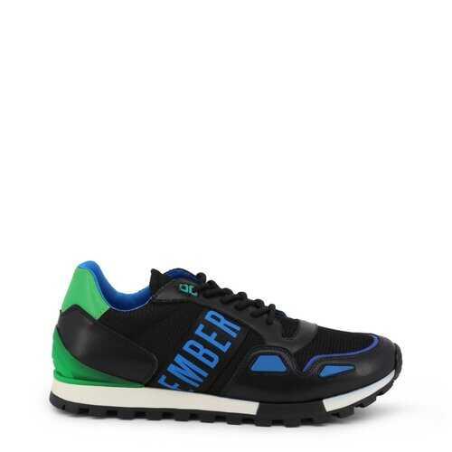 Bikkembergs Men's Sneakers, Low Top Athletic Shoes - Fend / Black / Blue