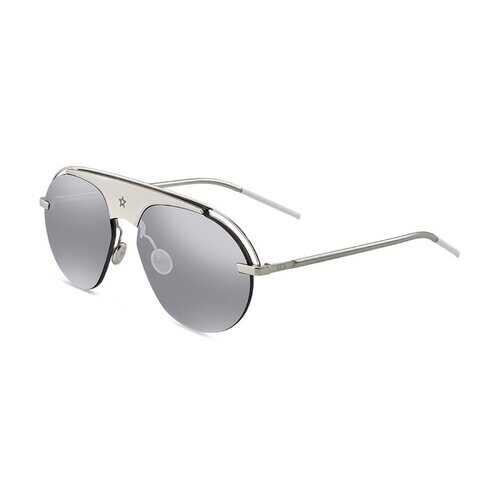 Anti-reflective Mirror Lense Sunglasses - Grey / Yellow / Blue