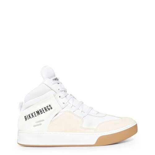 Bikkembergs Men's Sneakers, High Top Athletic Sneakers - White / Blue / Black