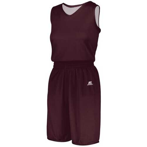 Women's Athletic Shirt, Undivided Solid Single Ply Reversible Shorts - Sportswear