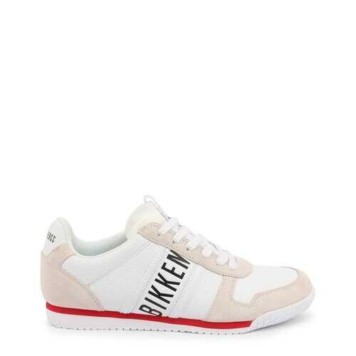 Bikkembergs Men's Sneakers, Enricus Low Top Athletic Shoes - White / Black
