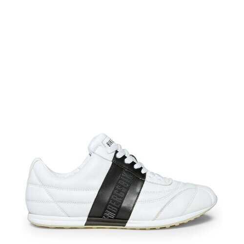 Bikkembergs Men's Sneakers, Barthel Athletic Sports Shoes - Black / White