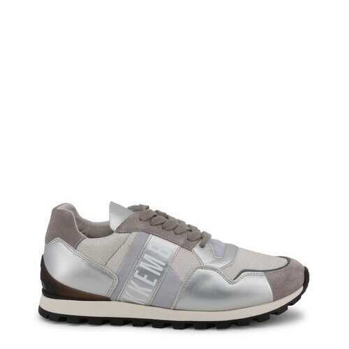 Bikkembergs Men's Sneakers, Low Top Athletic Shoes - Fend / White / Grey
