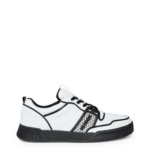 Bikkembergs Men's Sneakers, Low Top White / Black / Grey - S331841