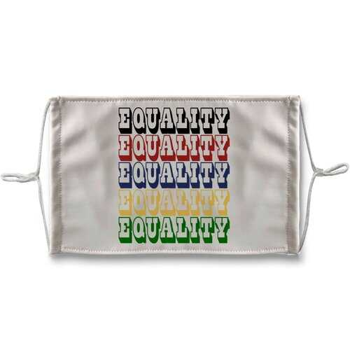 Equality Graphic Text Word Art (Rainbow) Face Mask + 10 Replacement Filters