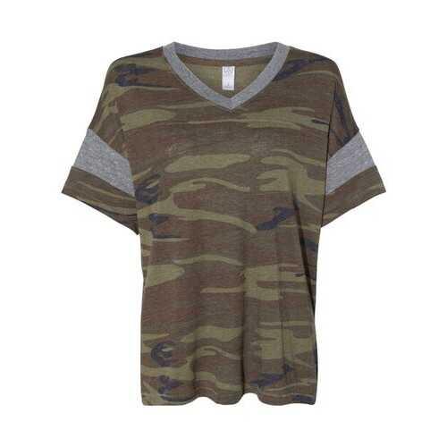 Alternative - T-Shirts, Women's Eco-Jersey Powder Puff V-Neck Tee