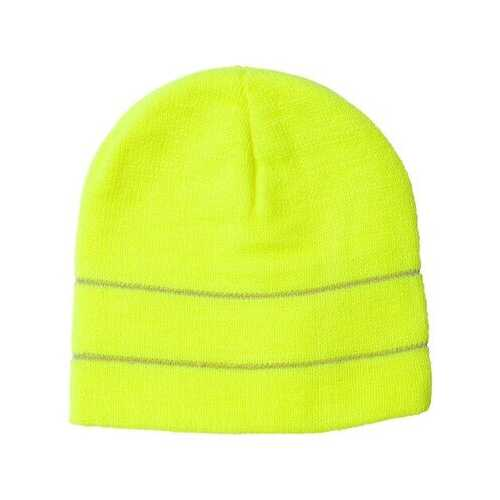 Bayside - Headwear - Winter, USA-Made Safety Knit Beanie with 3M Reflective Thread
