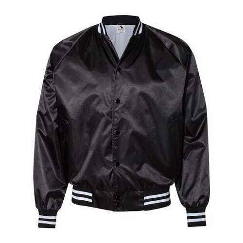 Augusta - Outerwear, Satin Baseball Jacket Striped Trim