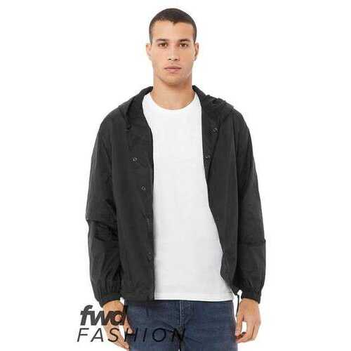 BELLA + CANVAS - Outerwear, FWD Fashion Hooded Coach's Jacket