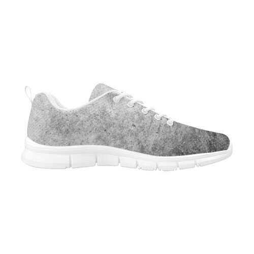 Gray Grunge, White Bottom Women's Running Shoes