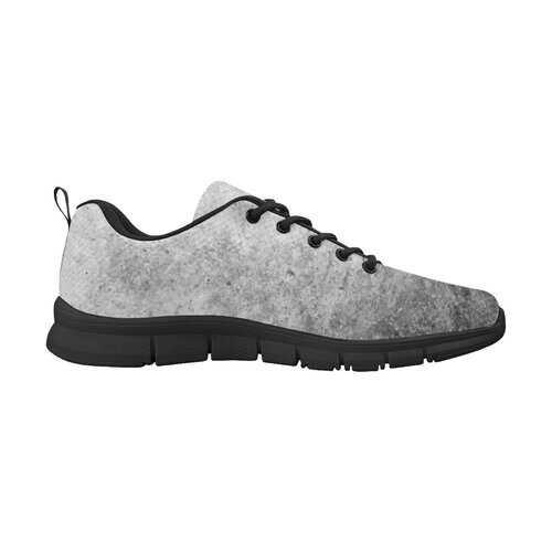 Gray Grunge, Black Bottom Women's Running Shoes