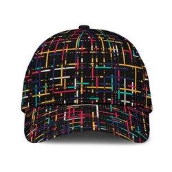 Colorful Stripe Style Black Classic Cap