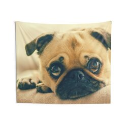 Indoor Wall Tapestry, Pug Love