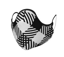 Category: Dropship Face Masks, SKU #4595697942601, Title: Masks, Black and White Plaid Style Face Covering