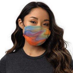 Category: Dropship Face Masks, SKU #4595734282313, Title: Masks, Orange Swirl Style Face Covering
