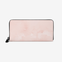 Accessories, Peach Marble Graphic Style Leather Wallet