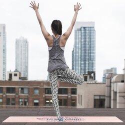 Peach Marble Peace Faith Joy Love Graphic Style Suede Anti-slip Yoga Mat