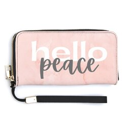 Accessories, Peace Marble Hello Peace Zip Close Wallet Wristlet