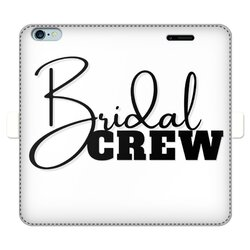 Bridal Crew Graphic Full Cover Print Wallet Cases