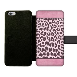 Two Tone Purple Leopard Style Front Printed Wallet Cases