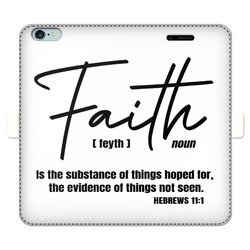 Faith The Substance Of Things Hoped For, Black Graphic Text Wallet Case
