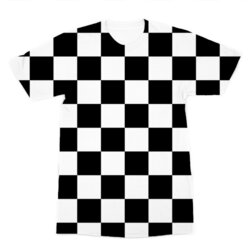 Black And White Checker Style Premium Sublimation Adult T-Shirt