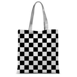 Black And White Checker Style Classic Tote Bag