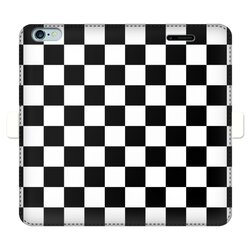 Black and White Checker Style Full Cover Print Wallet Cases