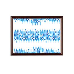 Mosaic Squares Graphic Style Wall Plaque