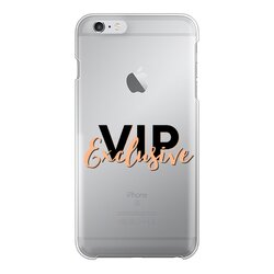 VIP Exclusive Black Graphic Back Printed Transparent Hard Phone Case