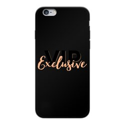 Vip Exclusive Black Graphic Back Printed Black Soft Phone Case