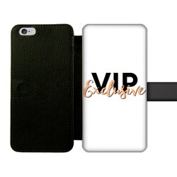 VIP Exclusive Black Graphic Front Printed Wallet Cases