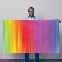Rainbow Mist Graphic Style Decorative Tapestry