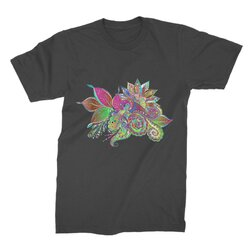 Floral Odyssey Graphic Style Premium Jersey Men'S T-Shirt
