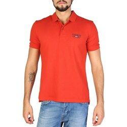 Napapijri Men's Short Sleeve Polo Style Shirt - Orange / Grey