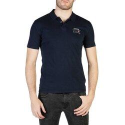 Napapijri Men's Short Sleeve Polo Style Shirt - Blue / Green / Pink