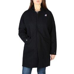 K-Way Women's Coat, Quarter Length - Black