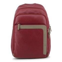 Piquadro Backpack, Multicompartment Designer Rucksack - Red