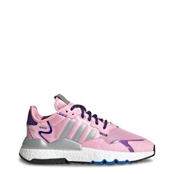 Adidas Women's Sneakers, Nite Jogger Athletic Shoes - Pink / Grey