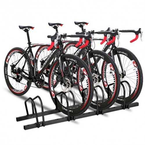 4 Bike Parking Garage Rack Storage Stand-Black