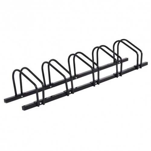 5 Bike Bicycle Stand Parking Garage Storage Organizer-Black